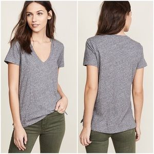 Made well whisper cotton v neck tee gray size S